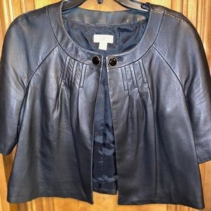 Beautiful real leather cropped jacket